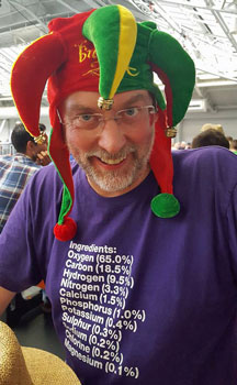 Pevans at the Great British Beer Festival, August 2016 - photo (and hat) by Mark Jones